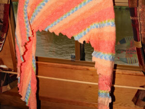 Hand knitted shawls and scarves