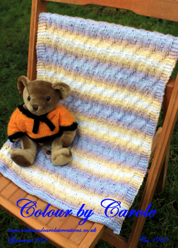 Pastel shades of blue, pale yellow and brown's, Chevron baby blanket.