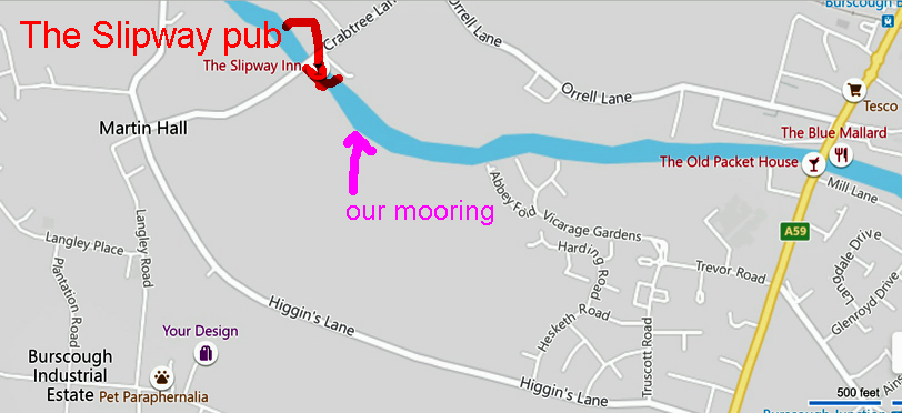 map for our mooring