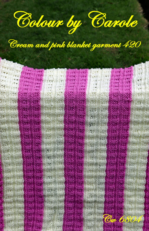 Cream and pink Blanket