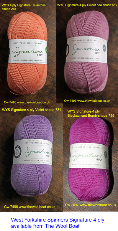 4 shades of WYS 4 ply