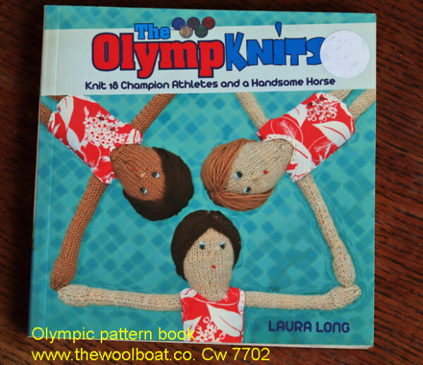 Olympic knitting pattern book Knitting patterns for Olympic folks, if Tom Daley can do it so can you! This lovely little book has patterns for knitting your very own team of Olympic athletes, and we only have one left! The book includes instructions for how to knit together with photos of the finished athletes in action and how to customise them for your own team.| Knit your own team of Olympic athletes and be a part of the blockbusting sporting event of 2021, Japan 2020. There are full instructions for how to knit the athletes alongside hilarious photos of them in action and how to customize them for your own team. Featuring 18 knitting patterns for athletes including Fiona the Fencer and Wayne the Weightlifter. It includes full sized templates for the outfits which can be created from scraps of fabric and old clothes. Olympknits is a quirky take on the biggest global event of 2021 It includes full instructions for how to knit the finished athletes in action and how to customise them for your own team. Contents include: Introduction; Knitting basics; 1 Bill and Bob the Boxers; 2 Cindy the Cyclist; 3 Reg the Runner; 4 Edward the Equestrian; 5 Fiona the Fencer; 6 Grace and Gloria the gymnasts; 7 Kato the Karatekat; 8 Su, Sal, Sim, Sam and Sven the Swimmers; 9 Rod, Rich, Rick and Ron the Rowers; 10 Wayne the weightlifter over 96 pages
