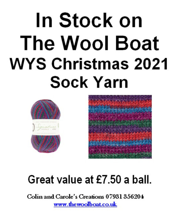 """Vintage Twinkle, West Yorkshire Spinners Signature 4ply yarn – Christmas 2021 West Yorkshire spinners have blended a subtle touch of sparkle with our award-winning Signature 4ply to create Vintage Twinkle. Signature 4ply Sparkle Vintage Twinkle (1051) 75% Wool / 23% Nylon / 2% Polyester 75% Wool / 25% Nylon The wool content for all Signature 4ply yarn contains 35% luxurious Bluefaced Leicester making this one of the most sumptuous 4 Ply products on the market. Size: 100g balls (400m) Tension - 36rs x 28sts - 10cm (4"""") sq - 3.25mm (US3) needles Machine Wash 30° Owing to photography and screen calibration the colour reproduction is matched as closely as possible to the yarn. Our price is £7.50 a 100 gram ball or £11.50 posted to a uk address. If you want more than one ball posting out please get in touch as we can send up to 8 balls out for the same postage."""